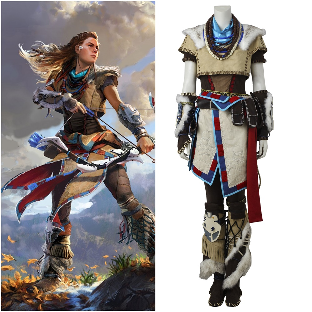 Horizon Zero Dawn Aloy Cosplay Costume Halloween Hunter Outfit