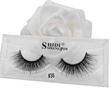 SHIDISHANGPIN full strip lashes 3d mink eyelashes hand made natural long makeup 1 pair extension