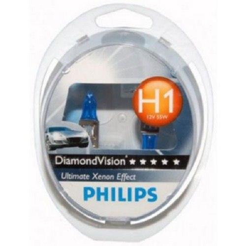купить Lamp Philips DIAMOND VISION 5000 K V H1, 55 W, P14.5s (12258DVS2) по цене 965 рублей