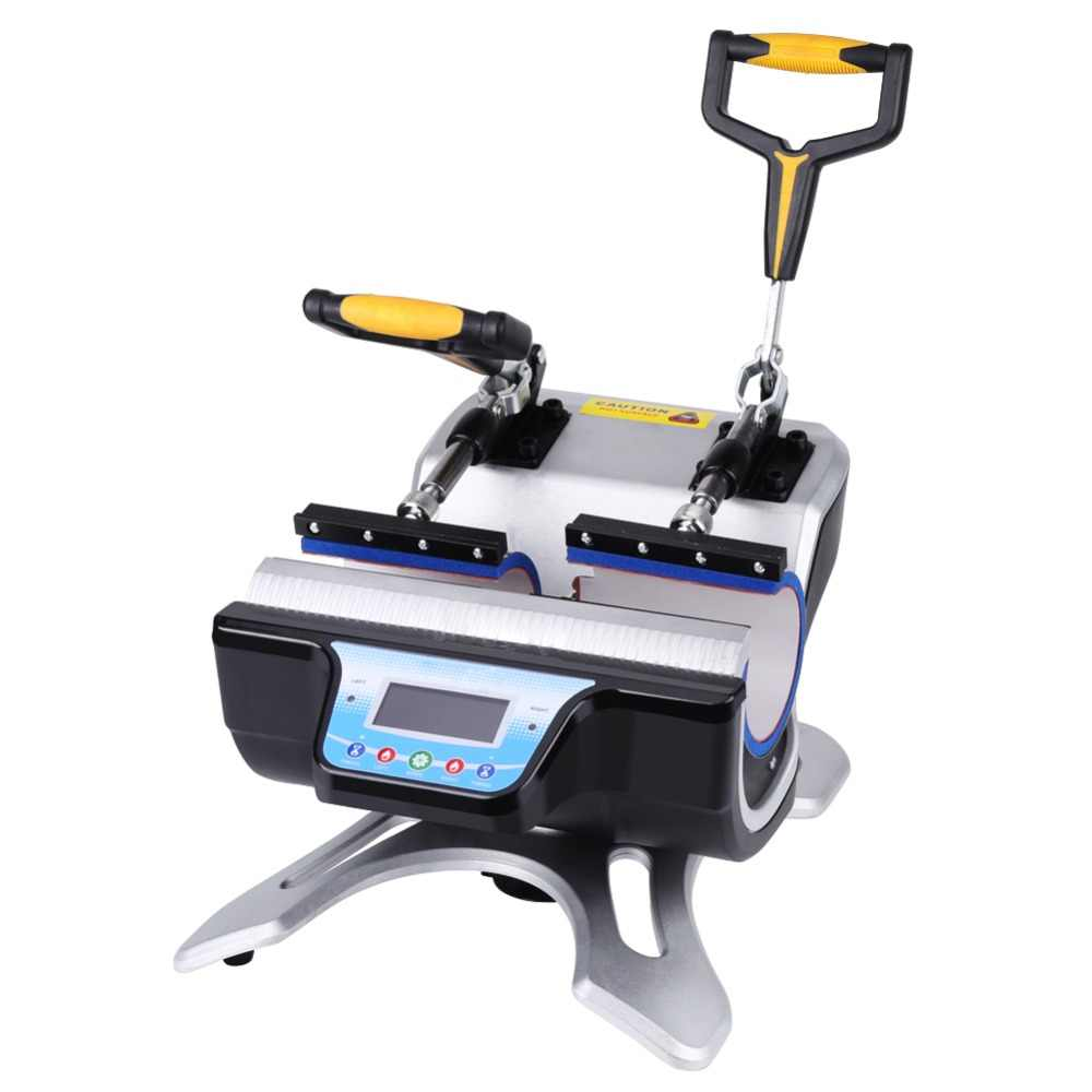 Otomatik çift istasyon kupa ısı basın makinesi kupa isı transferi 110V/220V ST-210 DIY süblimasyon Transfer BASKI MAKİNESİ