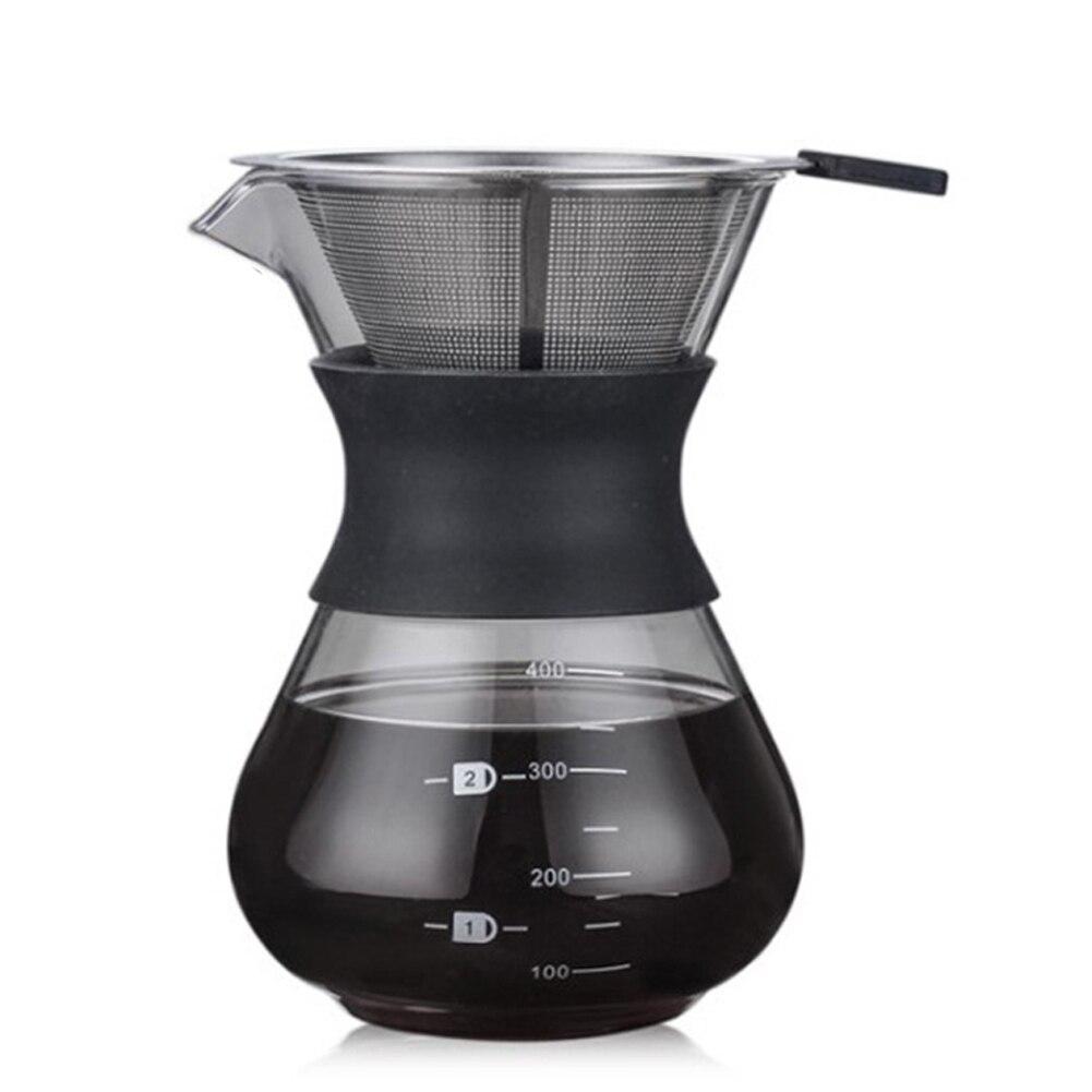 200ML Borosilicate Glass Carafe Pour Over Coffee Maker