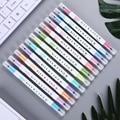 12 pièces/ensemble MilkLiner surligneur stylos créatifs Double tête marqueurs pour enfants cadeau école fournitures de bureau papeterie coréenne| |   -