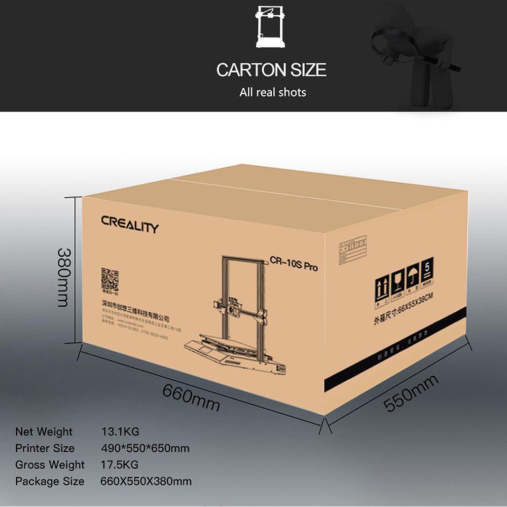 CR-10S Pro 3D Imprimante Kit 300*300*400mm Taille D'impression Coloré LCD Reprendre Impression Filament DIY 3D imprimante - 6