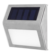 3 LED Solar Stair Light Waterproof Stainless Steel Pathway L