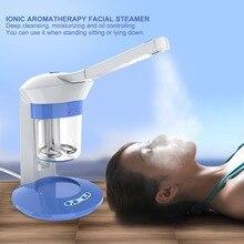 Facial Steamer Ionic Spraying Machine Aroma Hot Steamer Mist Ozone Sprayer Humidifier 360 Thermal Spray for Spa Use US Plug