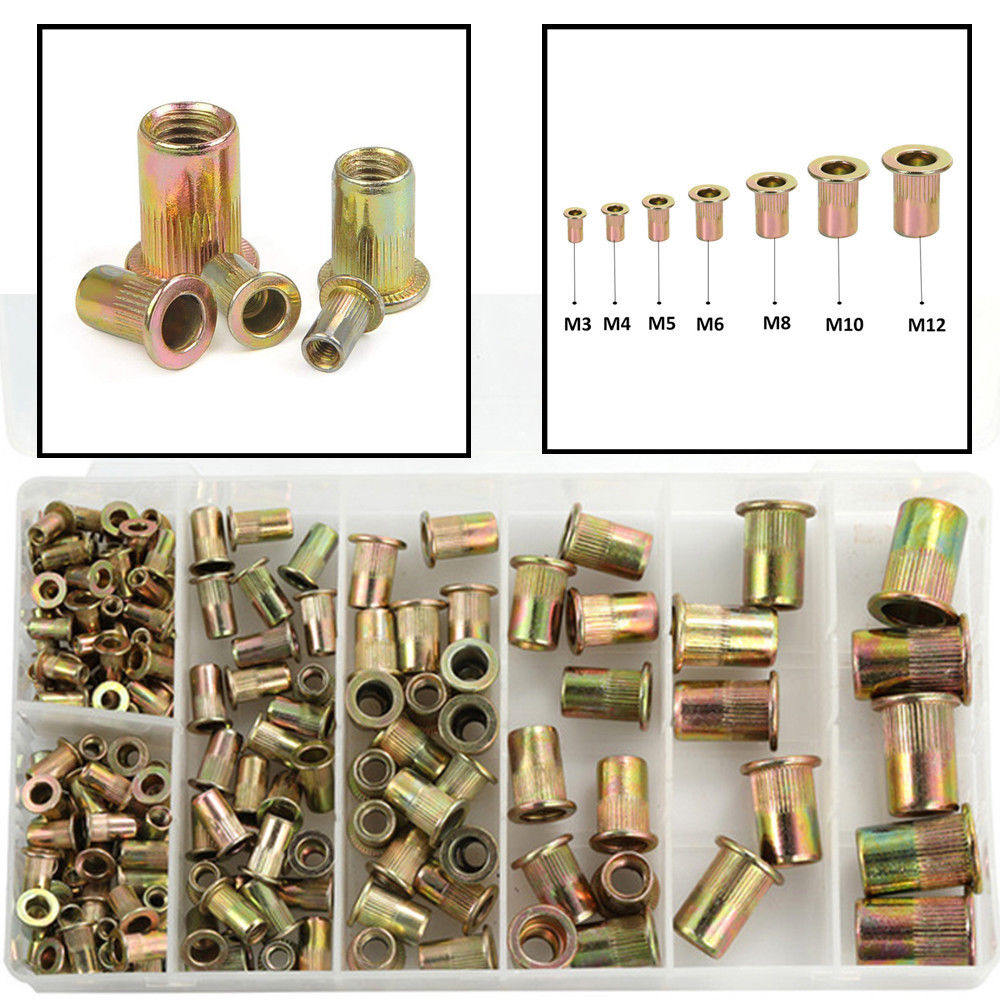 New Rivet Nuts Stainless Steel Rivnuts Blindnuts Nutserts Nuts Insert Rivet Multi Size
