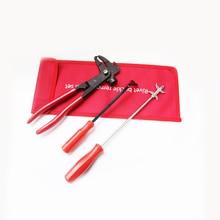 Auto Tire Repair Tool Kits Balance Hammer + Sharp Hook Flat Vehicle Maintenance Kit 3 Piece Set