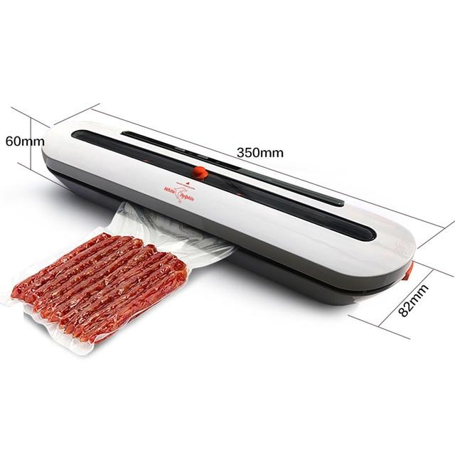 Kitchen vacuum sealer machine food saver 110v 220v electric home vacuum food sealer china including 10pcs storage bags