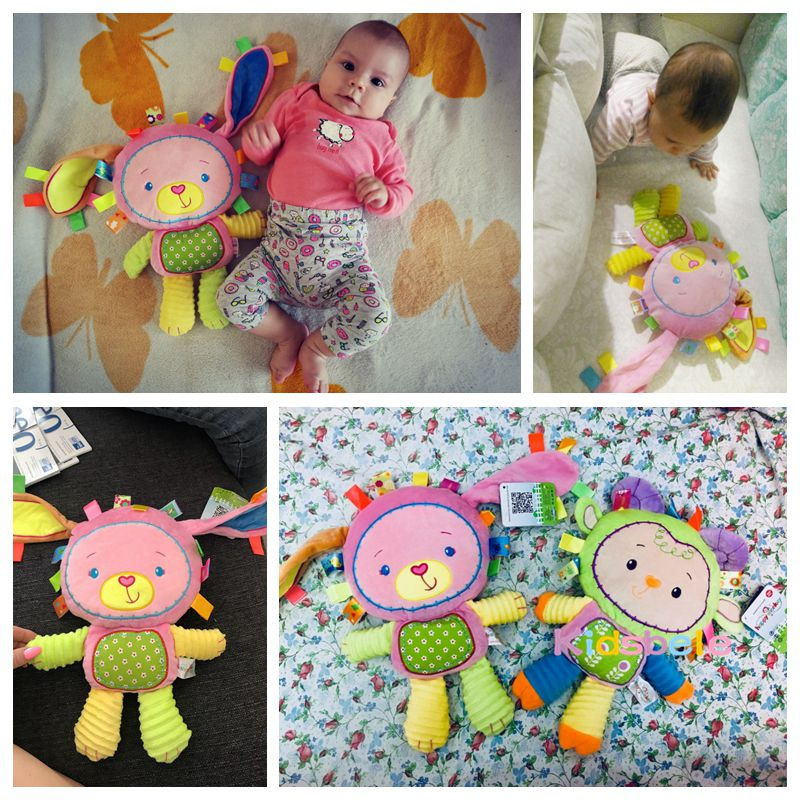 8 Styles Baby Toys 0-12 Months Appease Ring Bell Soft Plush Educational Infant Toys Kids Baby Rattles Mobiles Squeaky Sound Toy