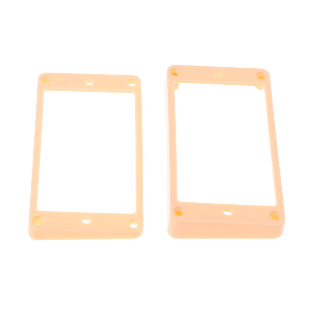 2pcs ABS Neck Bridge Humbucker Pickup Frame Mounting Rings For Electric Guitar Parts Replacement Cream