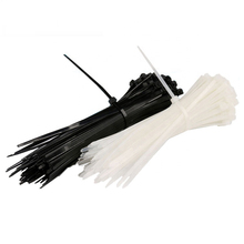 Кабельные стяжки 1000 шт. 3*200 мм самоблокирующиеся пластиковые кабельные стяжки кабель Zip Loop Галстуки для проводов Tidy band лента кабельная стяжка из нейлона