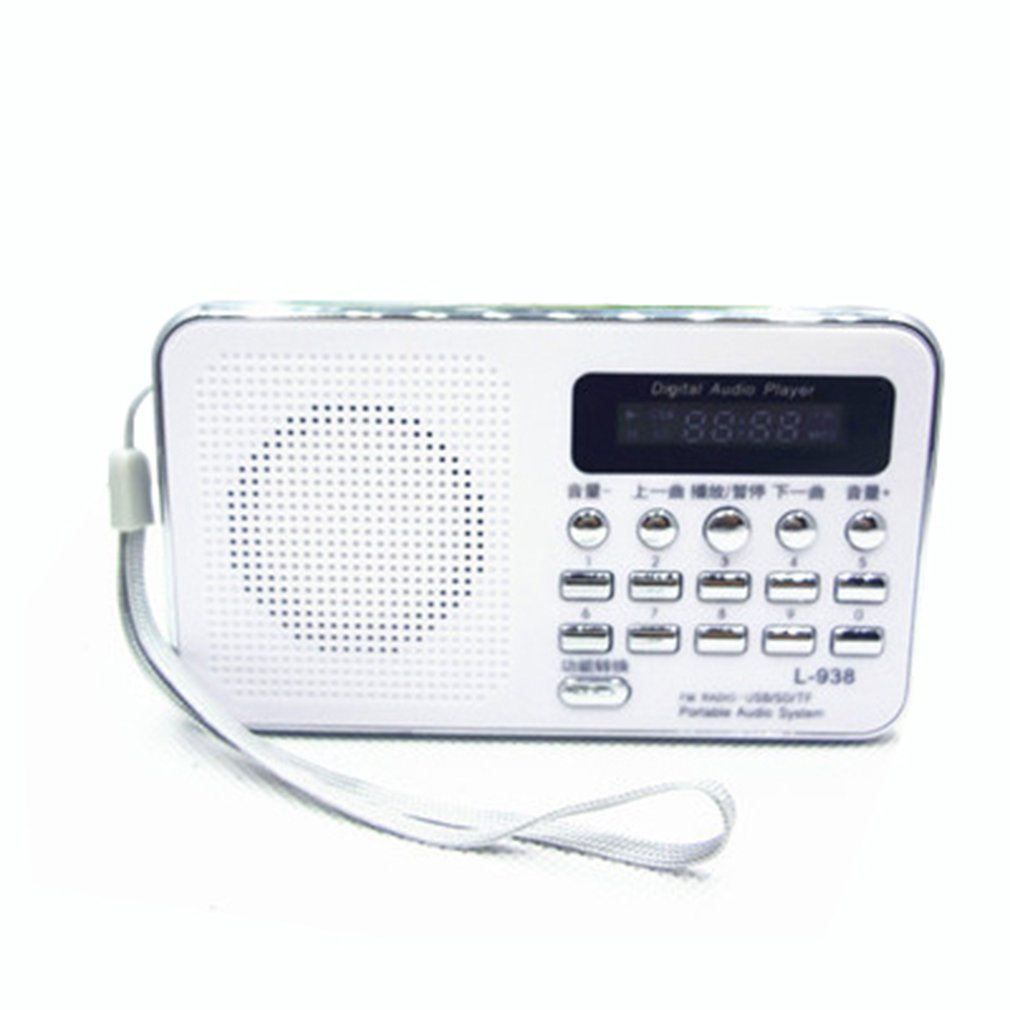 UnermüDlich Multi-funktionale Radio Lautsprecher Tragbare Mp3 Lautsprecher Player Lcd Digital Mini Fm Radio Lautsprecher Usb Sd Tf Karte Unterhaltungselektronik