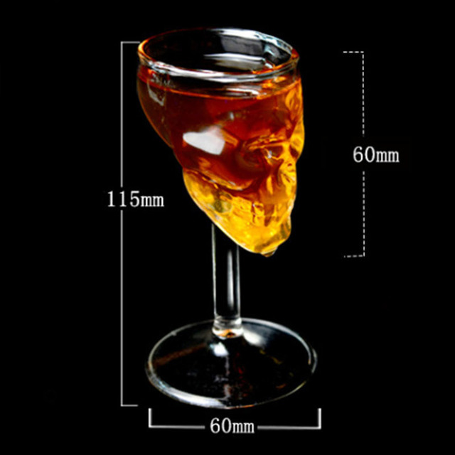 3d Creative Horror Skull Goblet Borosilicate Glass Of Red Wine/whiskey Spirits Mini Cup For Halloween Party/theme Bar