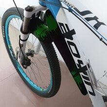 Новинка, велосипедное крыло MTB, красочное портативное складное пластиковое крыло для горного велосипеда, передние задние велосипедные аксессуары для брызговиков