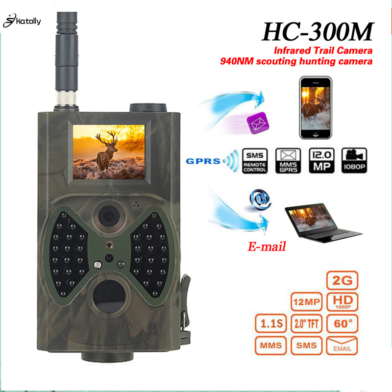 Skatolly HC300M Chasse Caméra GSM 12MP 1080P Photos Pièges Vision Nocturne Faune Infrarouge Chasse Chasse Caméras Chasse Chasse Scout