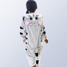 Pyjamas enfants pour filles garçons hiver flanelle dessin animé chat enfants garçons filles Pijamas bébé Pyjamas Pyjamas Pyjamas Pyjamas pour 4 12 ans