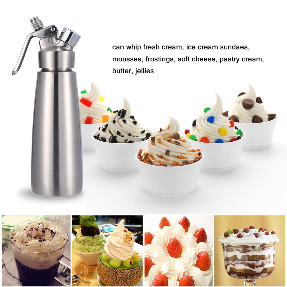 High Quality 500ML Professional Whipped Cream Dispenser Aluminium Cream Whipper Dessert Tools with Decorating Nozzles