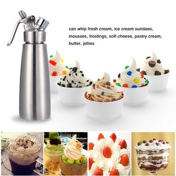 Hot sale 500ML Professional Whipped Cream Dispenser Aluminium Cream Whipper Dessert Tools Decorating Nozzles Cake Baking Tool