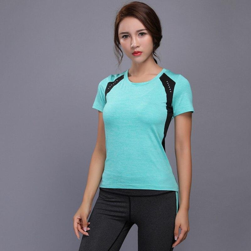 Camiseta com Elástico Camiseta Feminina Esportiva Fitness Manga Curta Yoga Academia Corrida Topo