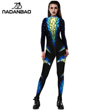 NADANBAO Carnaval Catsuit 3D Print Kostuum Cosplay Vrouwen Bodysuit Voor Vrouw Purim Carvinal Psychedelische Rits Plus Size Catsuit