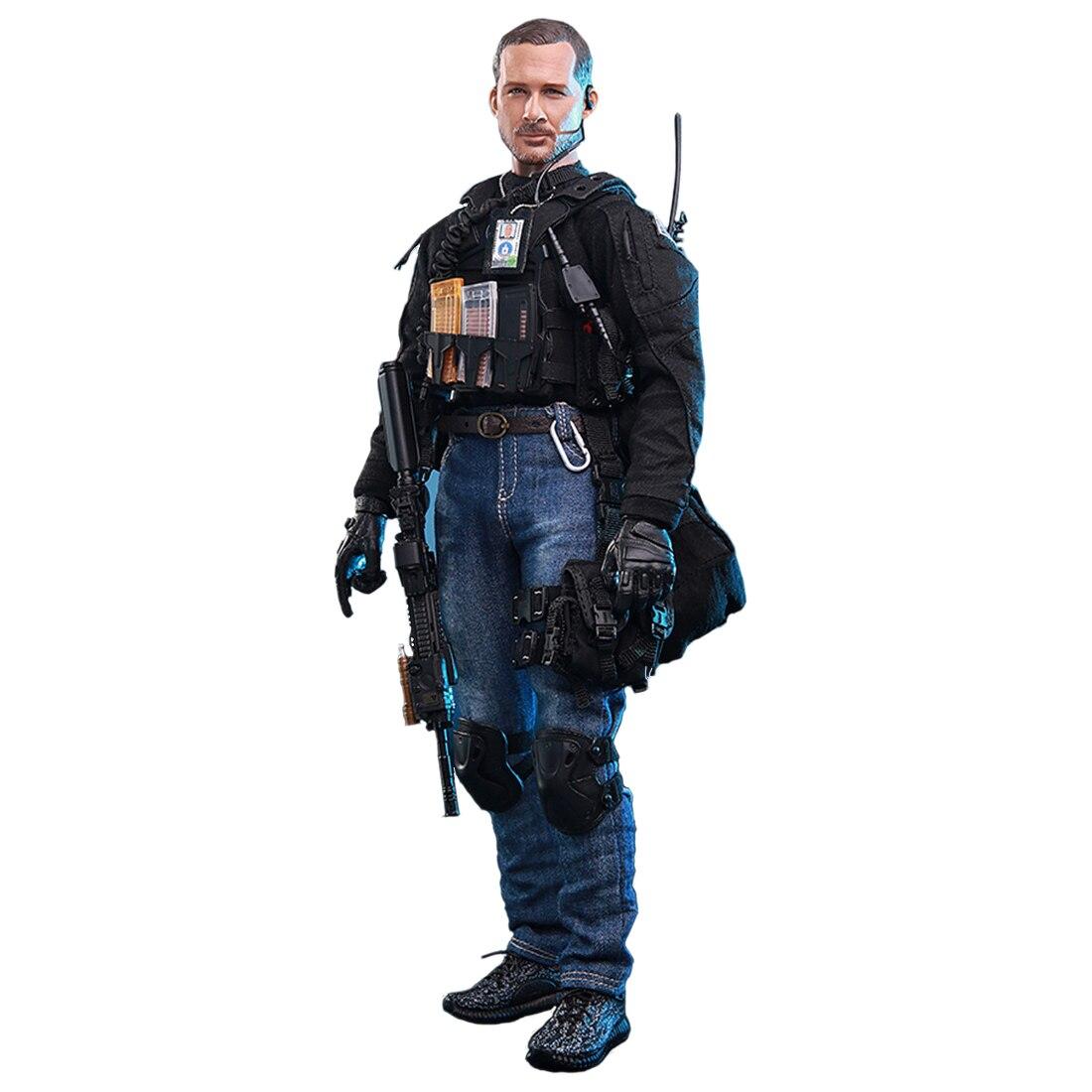 """CIA Agents armés 1/6 échelle accessoire ensemble pour 1/6 12 """"Action Figure blocs de construction jouets modèles Kits militaire soldat modèle enfants-in Kits de construction from Jeux et loisirs    1"""