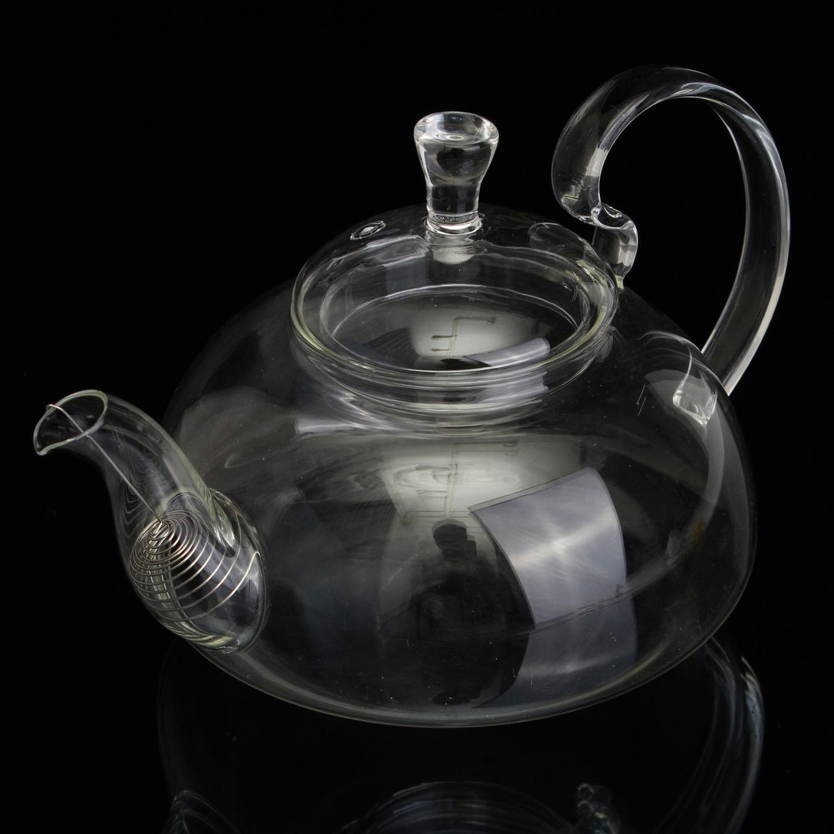 EAS 800ml Clear Glass Heat Resistant Teapot Infuser Flower Green Leaf Tea Pots in Electric Kettles from Home Appliances