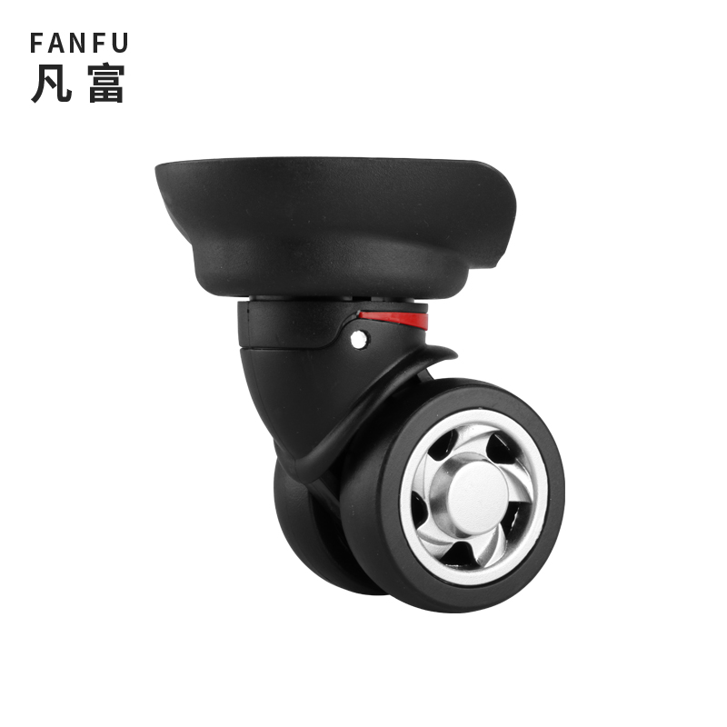 W055 Luggage Accessories Replacement Suitcase Wheels For Travel Bag Swivel Wheel Nylon Repair Mute Black Wheel Luggage Casters