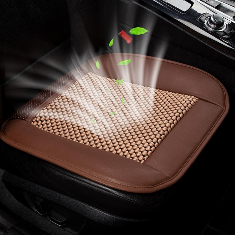 1PC Built-In Fan Car Cushion Air Circulation Ventilation Car Seat Cover Ice Silk Summer Cool Pad 12V/24V