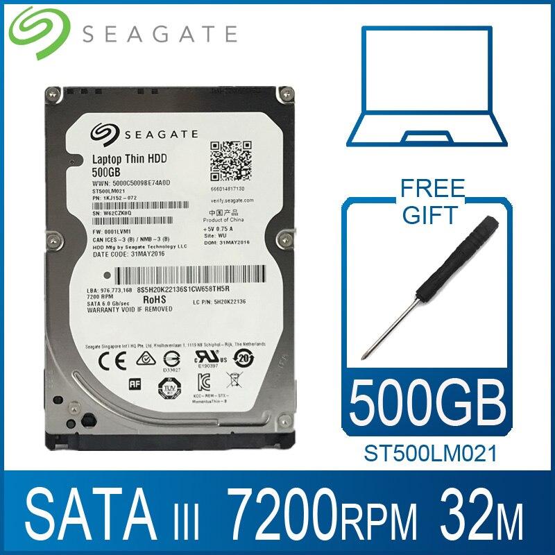 """Seagate 500 GB dysk twardy do laptopa dysk 7200 obr/min 2.5 """"wewnętrzny dysk twardy HD 500 GB dysk twardy SATA III 6 Gb/s 32 M pamięci podręcznej 7mm dla PS4 Notebook"""