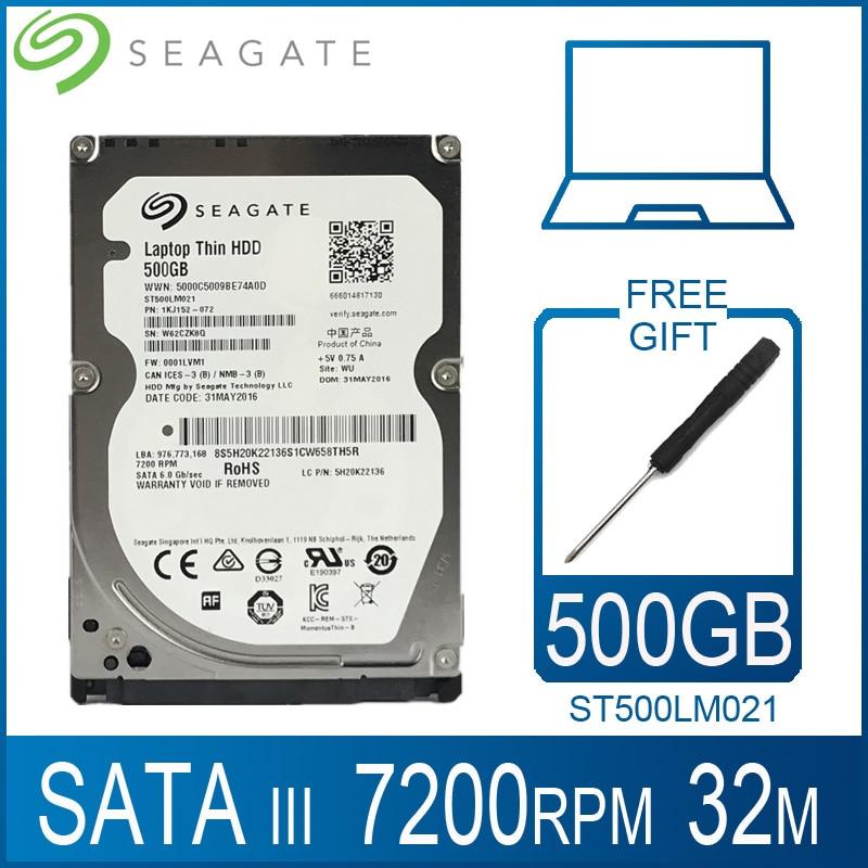 Жесткий диск для ноутбука Seagate, 500 Гб, 7200 об/мин, 2,5 дюйма, внутренний HDD HD 500 Гб, жесткий диск SATA III 6, Кэш-память 32 м, 7 мм для ноутбука PS4