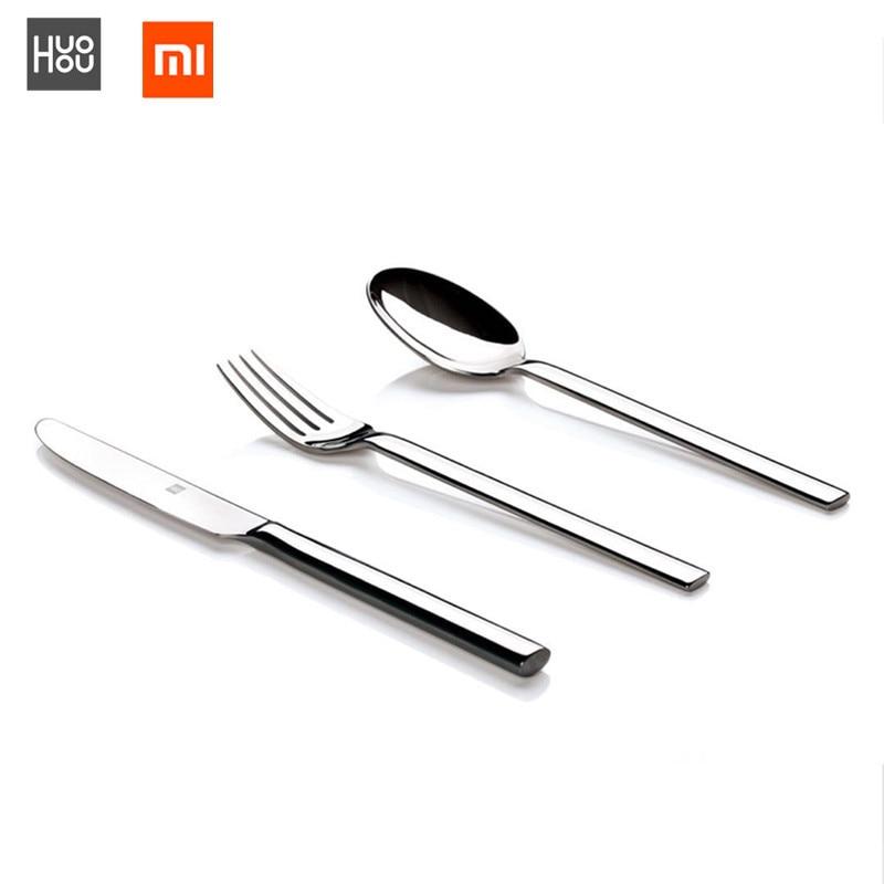 Original Xiaomi Mijia Huohou Cutlery Set Steak Knives Spoon Fork Stainless Steel Tableware Set Dinner Household Travel Cutlery