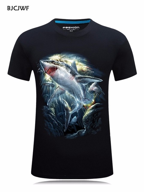 Casual Men's 3D Dog Printed T-Shirt