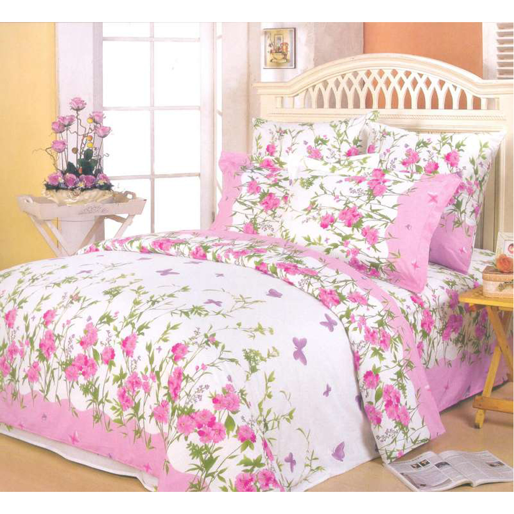 Фото - Bedding Set SAILID A-63/2 cover set linings duvet cover bed sheet pillowcases TmallTS allover flamingos print sheet set