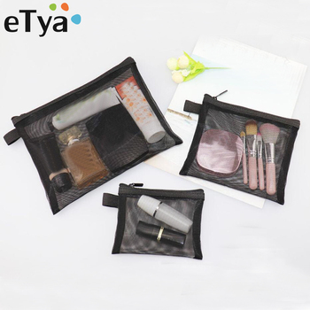 eTya Women Transparent Travel Cosmetic Bag Mesh Zipper Make Up Makeup Organizer Toiletry Beauty Wash Kit Case Pouch - discount item  40% OFF Special Purpose Bags