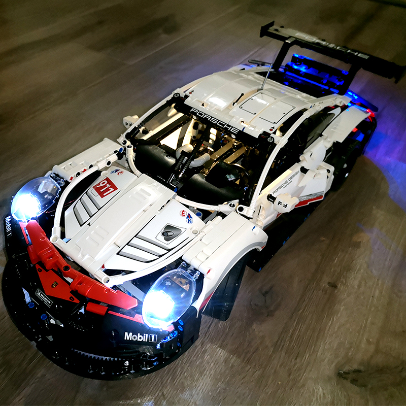 DHL IN STOCK Legoings Technic Sets lightening kits Compatible The 911 Racing cars Bugatti Playmobil Building