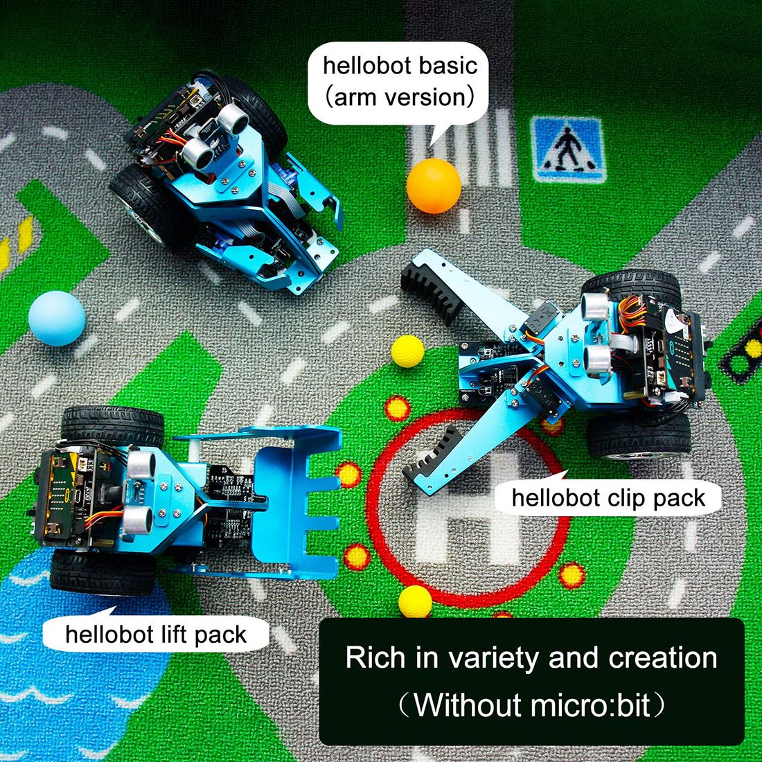 micro bit bbc mainboard grafico programavel carro 05