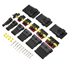 цена на 30 Sets 1/2/3/4/5/6 Pin Electrical Wire Connector Cable Automotive Connector Car Plug Waterproof IP68 300V 12A