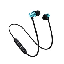 Magnetic Music Bluetooth 4.2 Earphone XT11 Sport Running Wireless Bluetooth Headset With Mic For IPhone Samsung magnetic music bluetooth 4 2 earphone sport running wireless bluetooth headset with charging cable young earphones