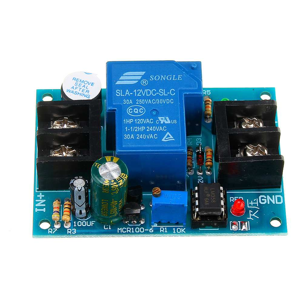 CLAITE  12V Battery Controller With Delay Anti-over-discharge Protection Board Low Voltage Undervoltage Protection Universal