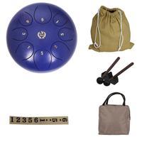 10 дюймов 8 тон стальной язык буддийский костюм для медитации ударный инструмент беззаботный звук металлический подвесной барабан с барабан