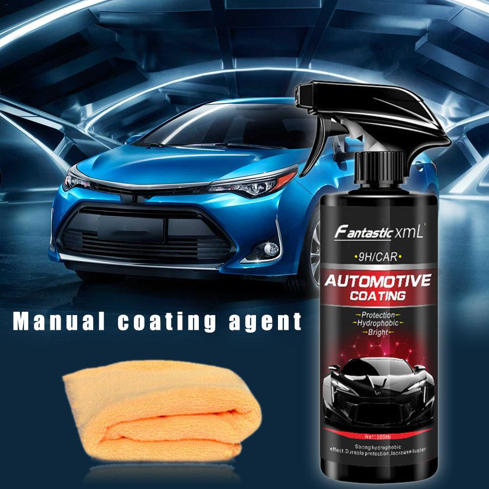 Image 2 - Liquid Ceramic Spray Coating Car Polish Spray Sealant Top Coat Quick Nano Coating 500ML Car Spray Wax Car Cleaning For Car-in Gloss Seal for Car Paints from Automobiles & Motorcycles