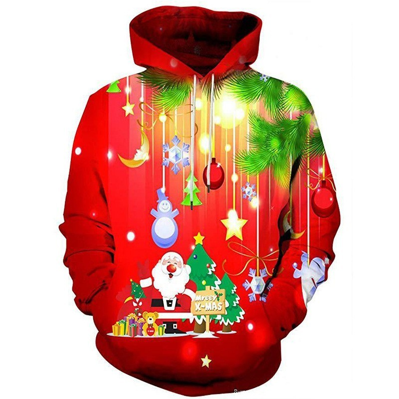 Zollrfea Dropshipping Men 3D Print Gala Christmas Hoodie Winter Casual Pullover Hooded Long Sleeve Sweatshirt Clothing BA0366