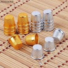 ZOTOONE 10pcs Silver Gold Color Sewing Thimbles Metal Finger Protector Tools DIY Craft Accessories