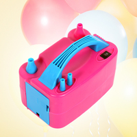 Portable Electric Balloon Inflator Pump Eu/US Plug Double Hole Nozzle Air Compressor Inflatable Electric Balloon Pump Air Blower