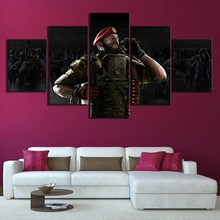 Home Decor Poster HD Pictures Prints Canvas 5 Piece Rainbow Six Siege Game Living Room Art Decorative Painting