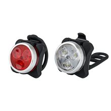 BIke Light Cycling Bicycle Bike 3 LED Head Front light 4 Modes USB Rechargeable Tail Clip Light Lamp Waterproof Riding sews black waterproof led bicycle bike front light xml t6 4 modes outdoor sports cycling head light lamp