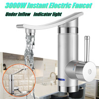 220V 3000W Instant Electric Faucet Hot Water Electric Water Heaters Under Inflow/Side Water Without Leakage Protection