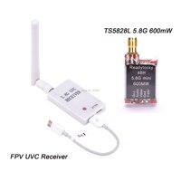 Mini transmissor 5.8g 5.8 mw do receptor uvc video downlink otg + ts5828l/ts5828s 48ch 600g para o telefone android de vr