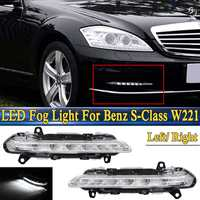 For Mercedes Benz S Class W221 C250 C300 C350 CL550 For AMG CLS550 R350 LED DRL Daytime Running Light Fog Lamp