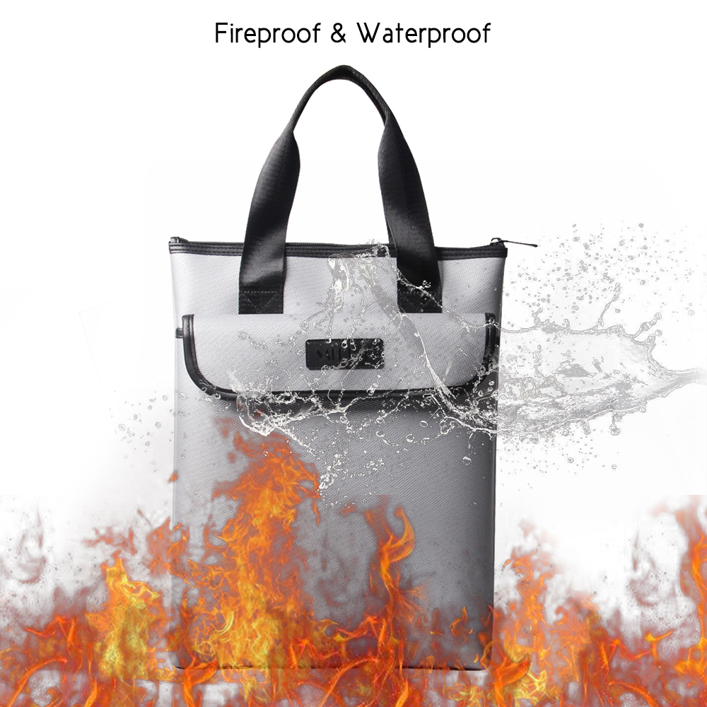 Us 17 74 46 Off 15 11inch Portable Fireproof Doent Bag Holder Pouch Business Kit Fire Water Resistant File Folder Safe Storage In